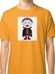 Child in vampire costume. Vector cartoon Classic T-Shirt