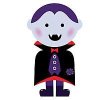 Child in vampire costume. Vector cartoon Photographic Print