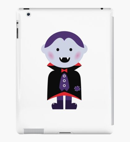 Child in vampire costume. Vector cartoon iPad Case/Skin