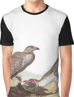 Greater Sage-Grouse - John James Audubon Graphic T-Shirt