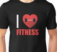 I Heart Love Fitness - Gym Fit Trainer Workout  Unisex T-Shirt