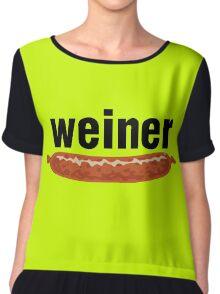 weiner (w. sausage) Chiffon Top