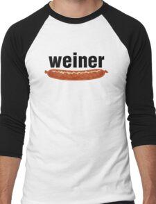 weiner (w. sausage) Men's Baseball ¾ T-Shirt