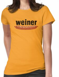 weiner (w. sausage) Womens Fitted T-Shirt