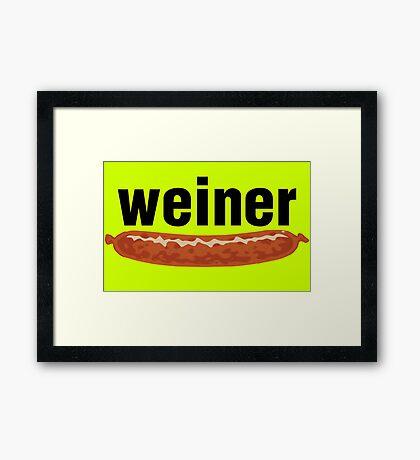 weiner (w. sausage) Framed Print