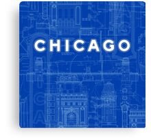 Chicago Icons Canvas Print