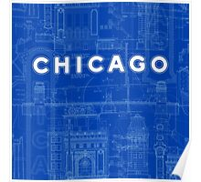 Chicago Icons Poster