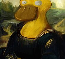 mona psyduck painting by Steven Stills