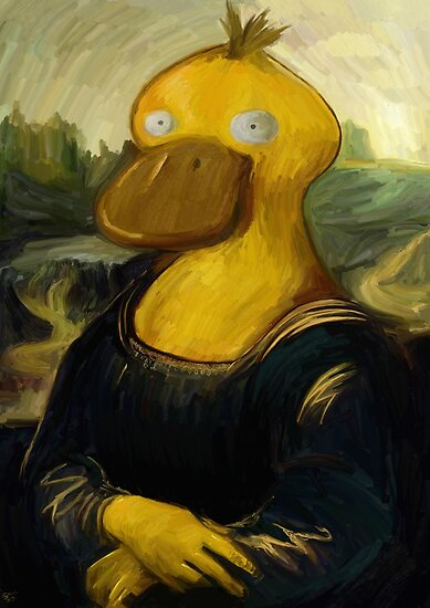 mona psyduck painting by Steven Stills