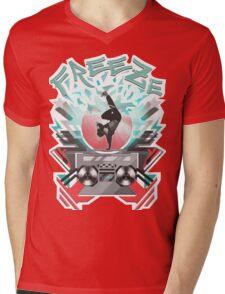 FREEZE (White) Mens V-Neck T-Shirt