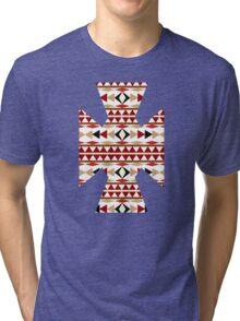 Navajo White Pattern Tri-blend T-Shirt
