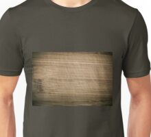 Scratched old bamboo cutting board  Unisex T-Shirt