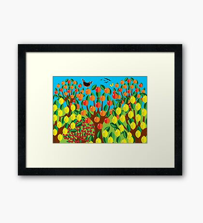 ORANGE AND LEMONS Framed Print