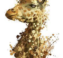 Morning Giraffe  by Victor Castillo