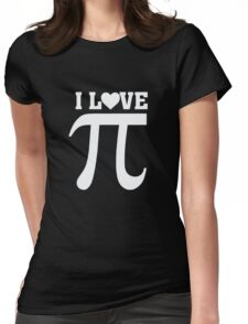 I heart Love Pi - Pie - Funny Math Pun  Womens Fitted T-Shirt