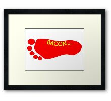 Bacon Foot Tattoo Framed Print