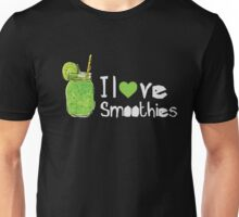 I Heart Love Smoothies - Green Smoothie  Unisex T-Shirt