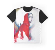 "Red riding hood ink painting ""What big eyes you have"" Graphic T-Shirt"