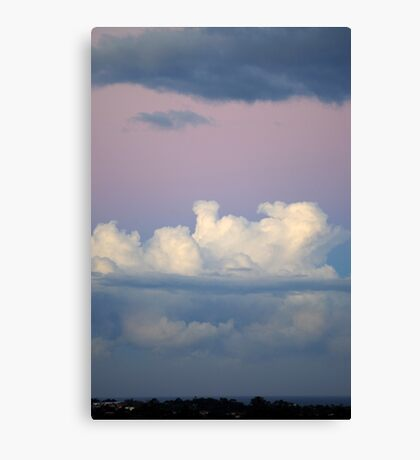 White and Grey Clouds Canvas Print