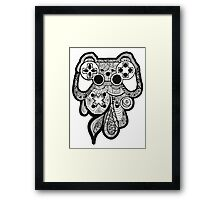 Games Console Zentangle BLACK & WHITE Framed Print