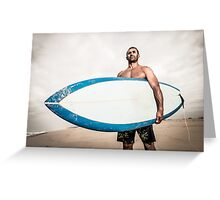 Surfer wathing the waves Greeting Card