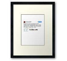 Lil B 'The BasedGod' Tweet Framed Print