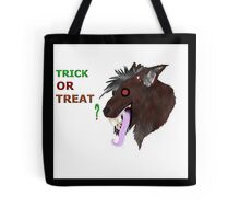Tick or treat demon wolf Tote Bag