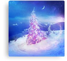 Heart snowstorm Canvas Print