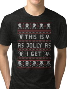 Emo Gothic Ugly Christmas Sweater Tri-blend T-Shirt