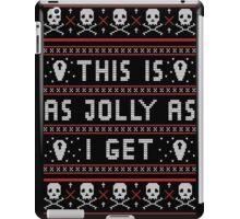 Emo Gothic Ugly Christmas Sweater iPad Case/Skin