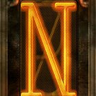 Steampunk - Alphabet - N is for Nixie Tube by Mike  Savad