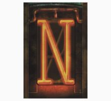 Steampunk - Alphabet - N is for Nixie Tube Kids Clothes