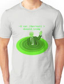 cat /dev/null Donald Trump Unisex T-Shirt
