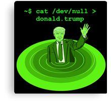 cat /dev/null Donald Trump Canvas Print