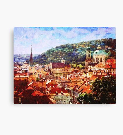 Roof tops of the old city of Prague Canvas Print