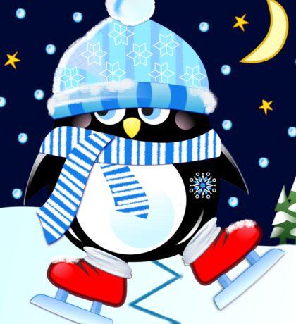 The skating Penguin Sticker
