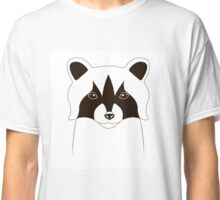 Cute raccoon face Classic T-Shirt