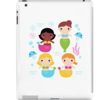 Cute colorful Mermaids with little sea creatures iPad Case/Skin