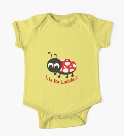 L is for Ladybug One Piece - Short Sleeve