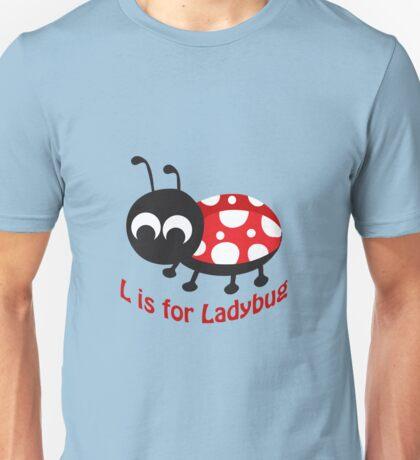 L is for Ladybug Unisex T-Shirt