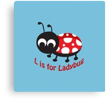 L is for Ladybug Canvas Print