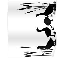 Goose silhouettes Poster
