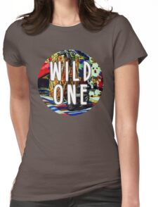 Wild One Native American Watercolor Womens Fitted T-Shirt
