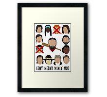 Negan - Eeny Many Moe Framed Print