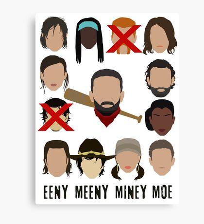Negan - Eeny Many Moe Canvas Print