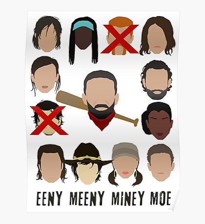 Negan - Eeny Many Moe Poster