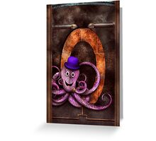 Steampunk - Alphabet - O is for Octopus Greeting Card