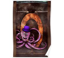 Steampunk - Alphabet - O is for Octopus Poster