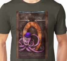 Steampunk - Alphabet - O is for Octopus Unisex T-Shirt