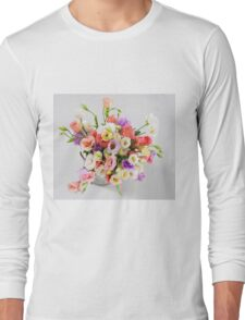flower bouquet On white background  Long Sleeve T-Shirt